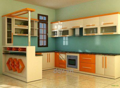 kính màu ốp bếp trang trí nội thất
