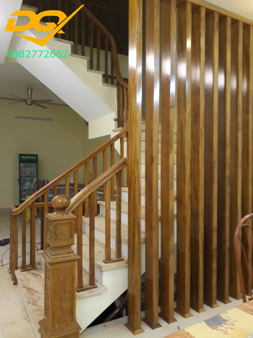 Mẫu cầu thang gỗ#15