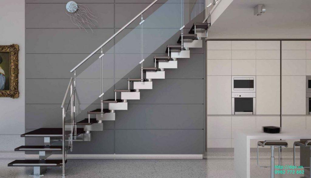 Cầu thang inox kính#12