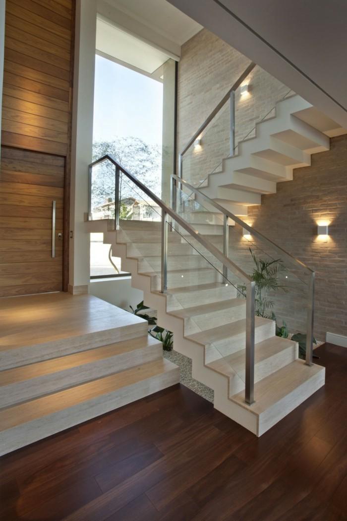 Cầu thang inox kính