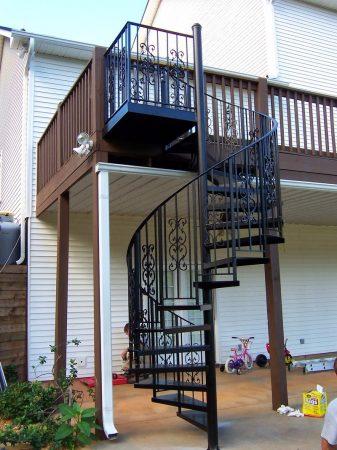 Cầu thang sắt nghệ thuật#7
