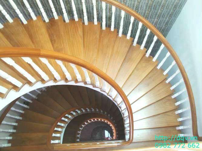 Mẫu cầu thang gỗ#1