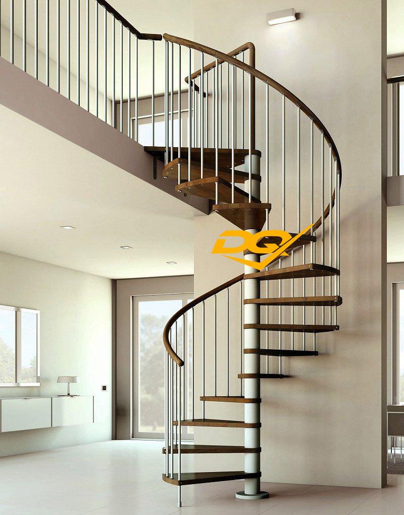 Cầu thang xoắn ốc bằng sắt
