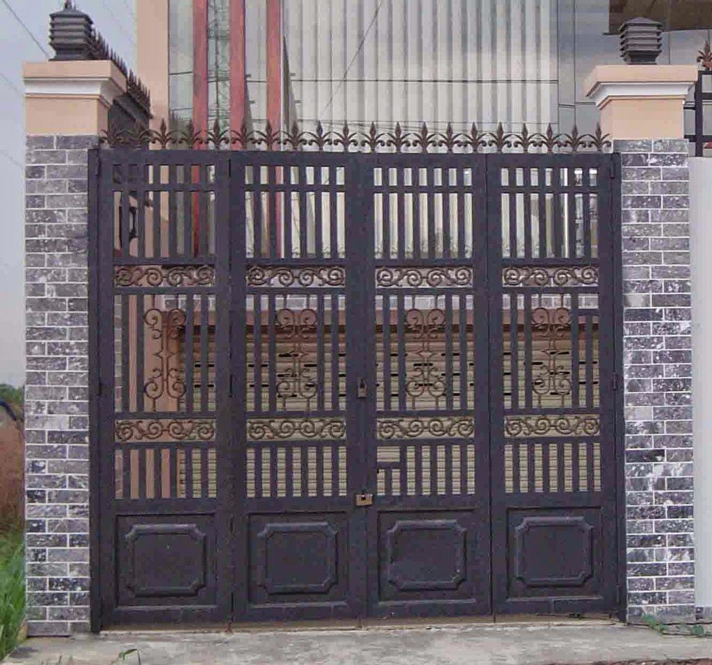 Cửa cổng sắt inox đẹp#1