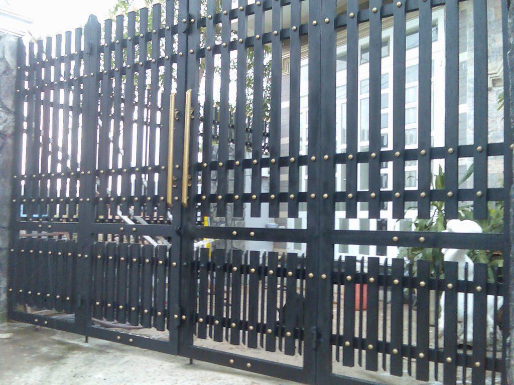 Cửa cổng sắt inox đẹp#3