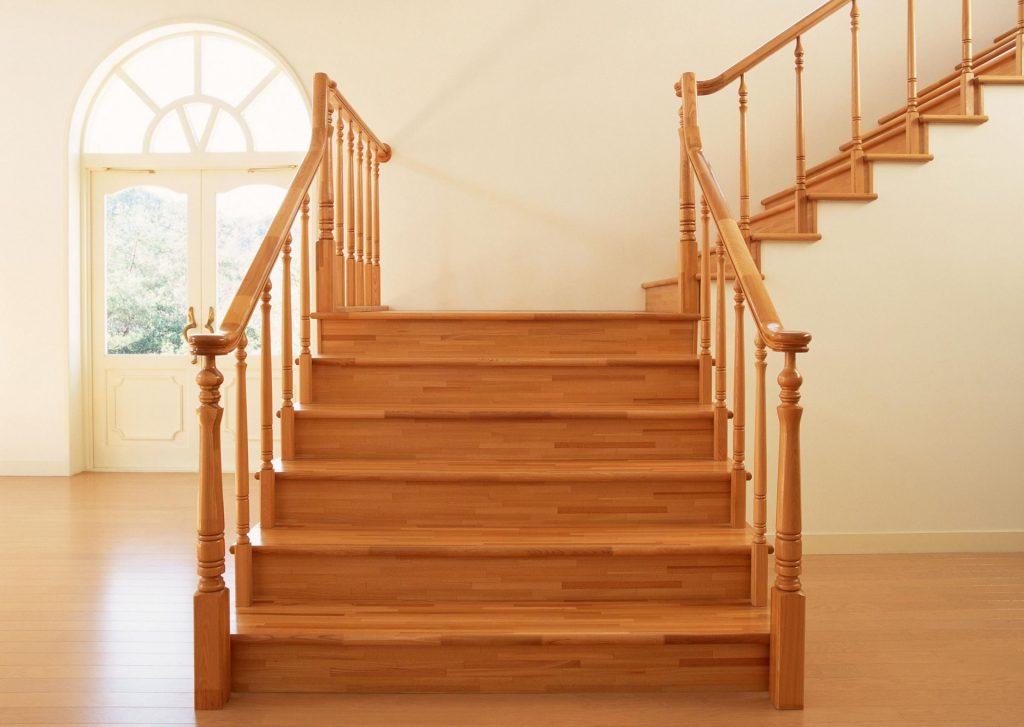 Mẫu cầu thang gỗ đẹp#1