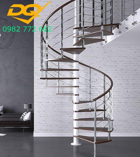 Cầu thang xoắn ốc inox#3