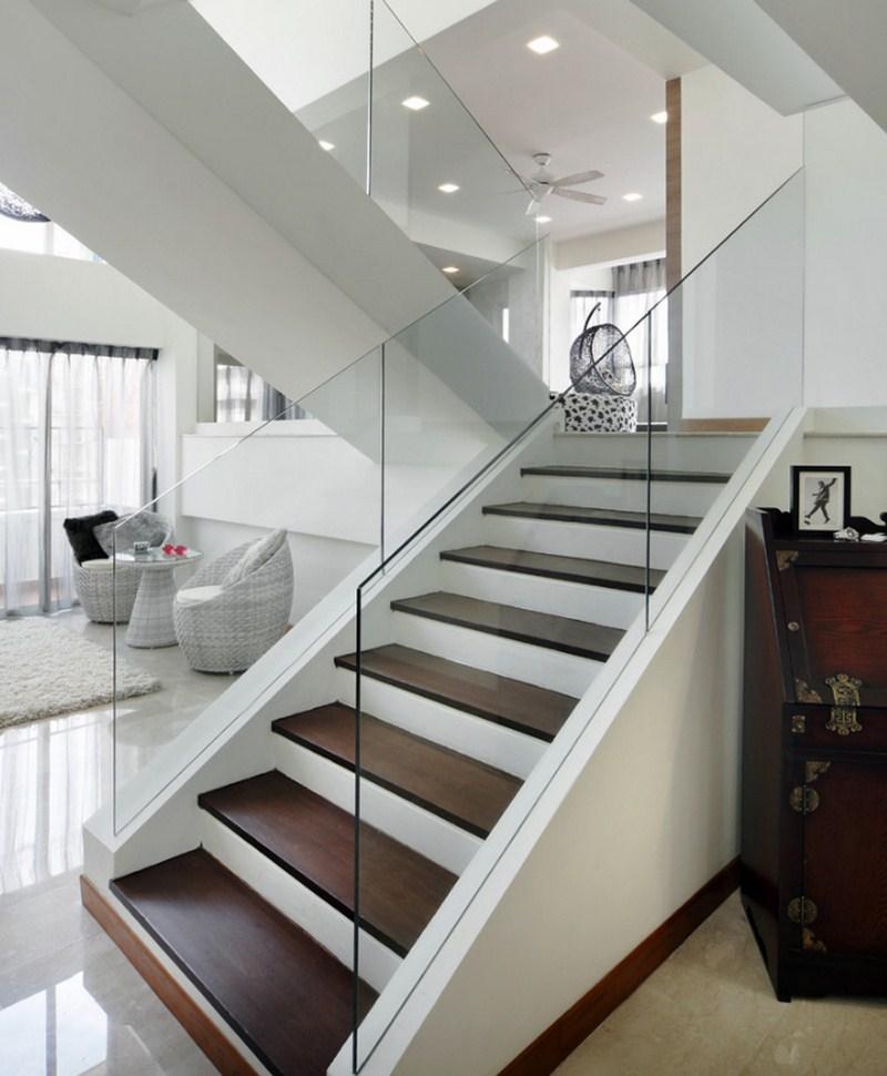 Cầu thang kính có rất nhiều kiểu dáng để lựa chọn