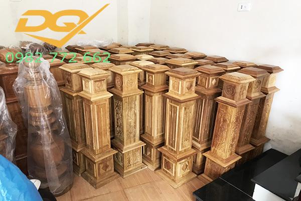 Trụ gỗ cầu thang gỗ#26