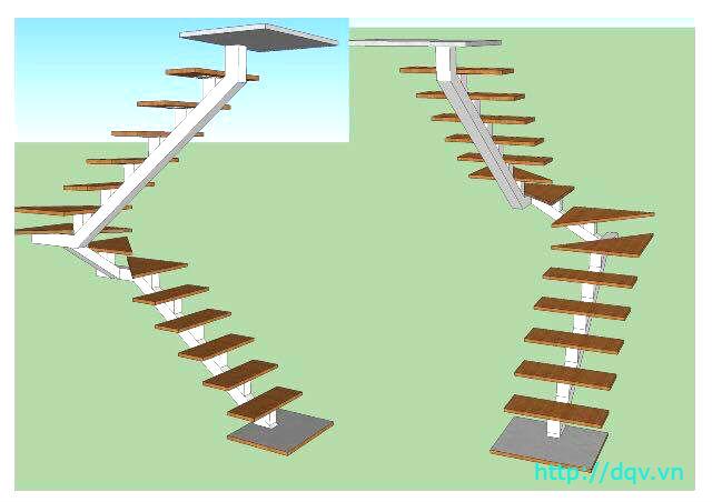 Cầu thang xương cá bê tông#8