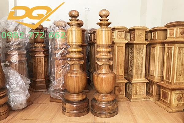 Trụ gỗ cầu thang gỗ#23