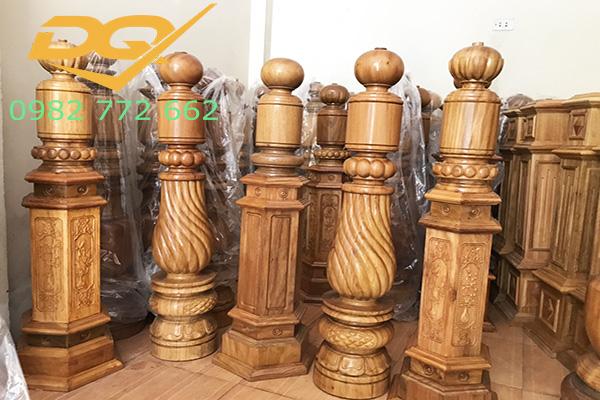 Trụ gỗ cầu thang gỗ#24