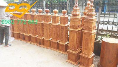 Trụ gỗ cầu thang gỗ lim nam phi