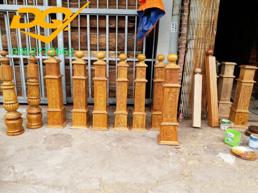 Trụ cầu thang gỗ vuông đẹp#14