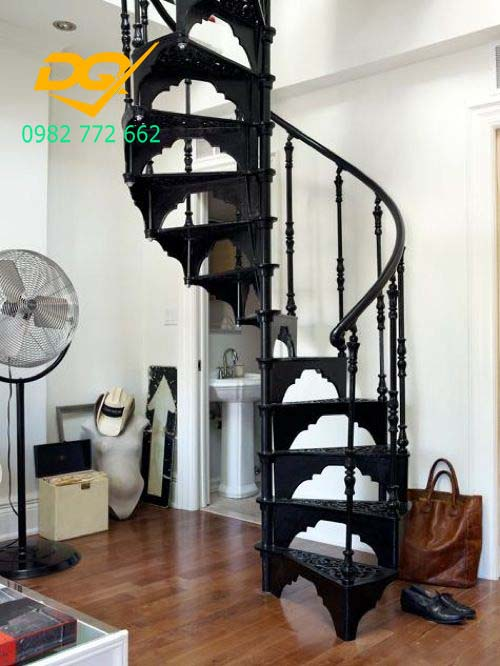 Mẫu cầu thang sắt hộp #