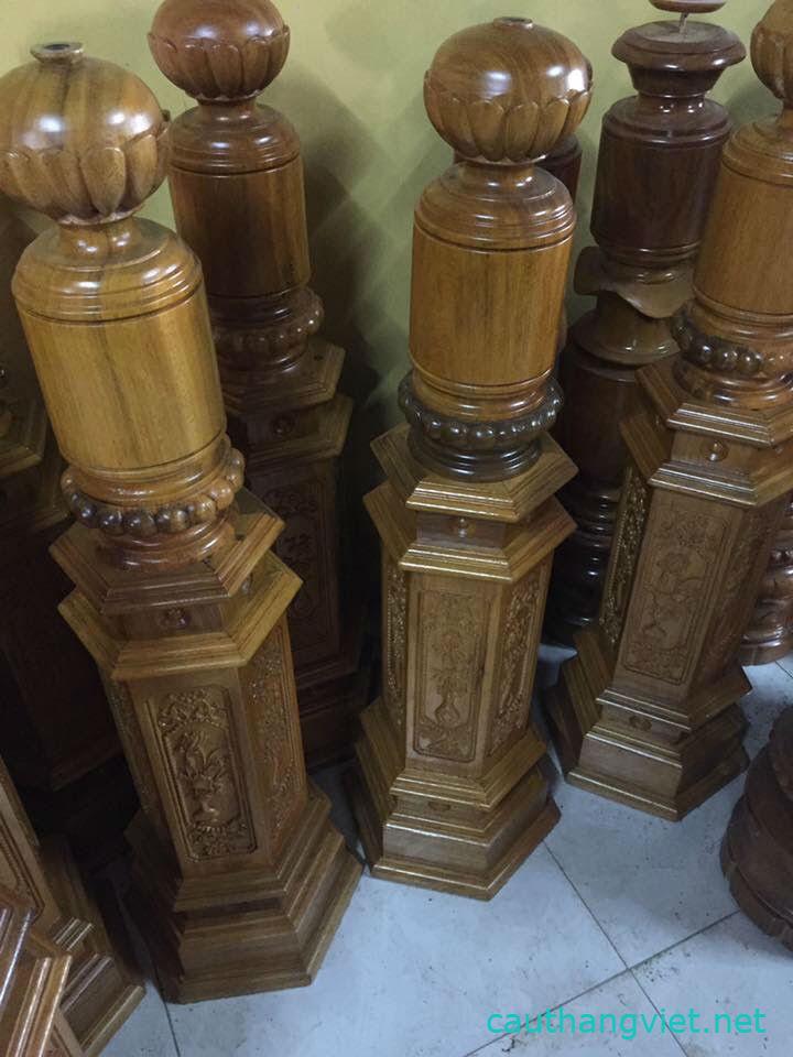 Trụ cầu thang gỗ vuông đẹp#6