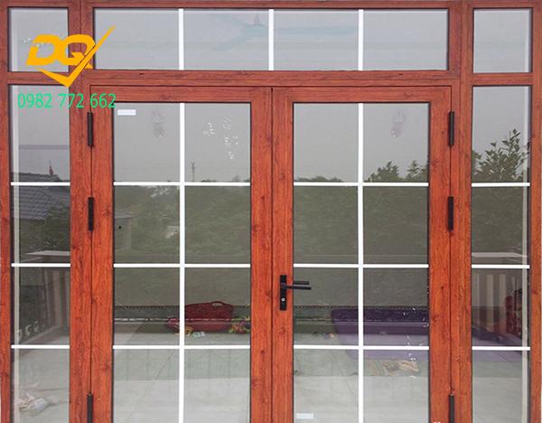 Cửa nhôm Xingfa vân gỗ nhập khẩu#3