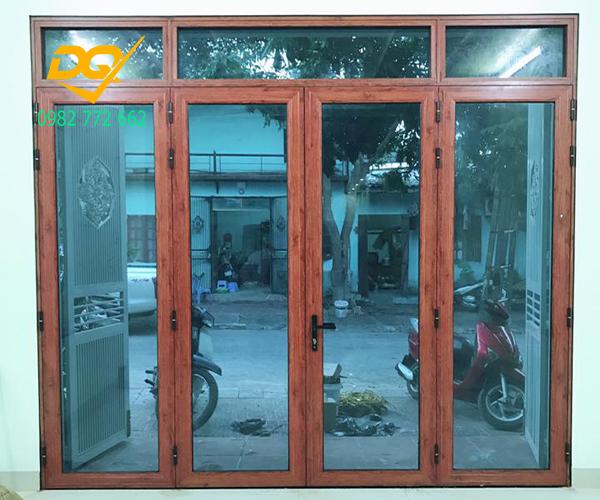 Cửa nhôm Xingfa vân gỗ nhập khẩu#4