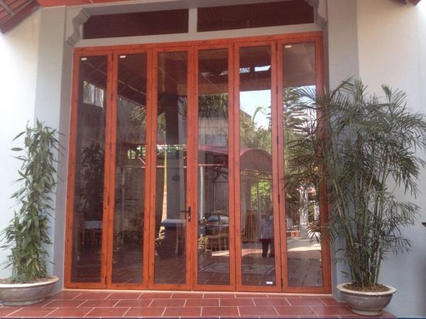 Cửa nhôm Xingfa vân gỗ nhập khẩu#6