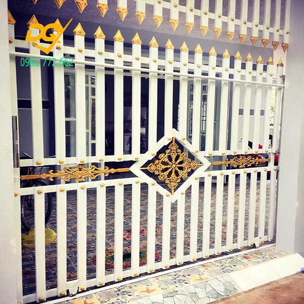 Cửa cổng sắt inox đẹp#13