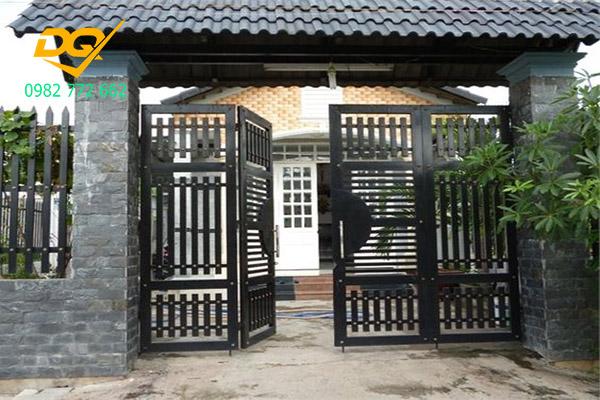 Cửa cổng sắt inox đẹp#19