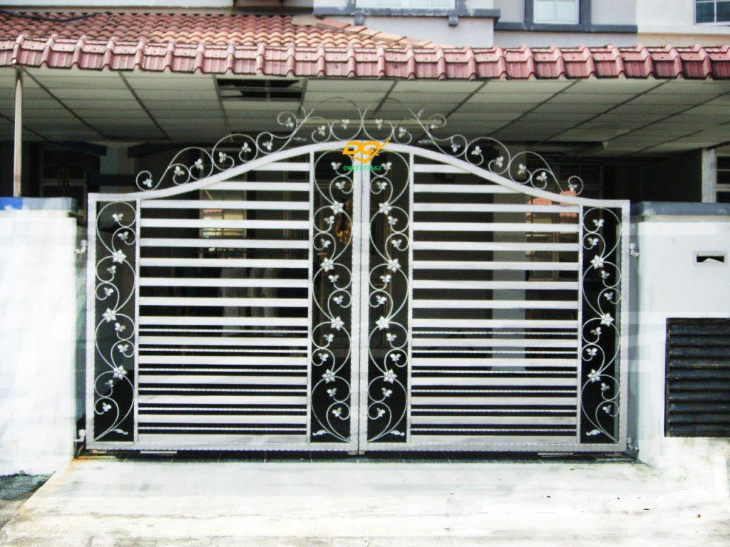 Hàng rào sắt hộp inox#6