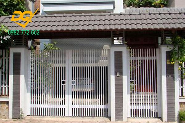 Cửa cổng sắt inox đẹp#6