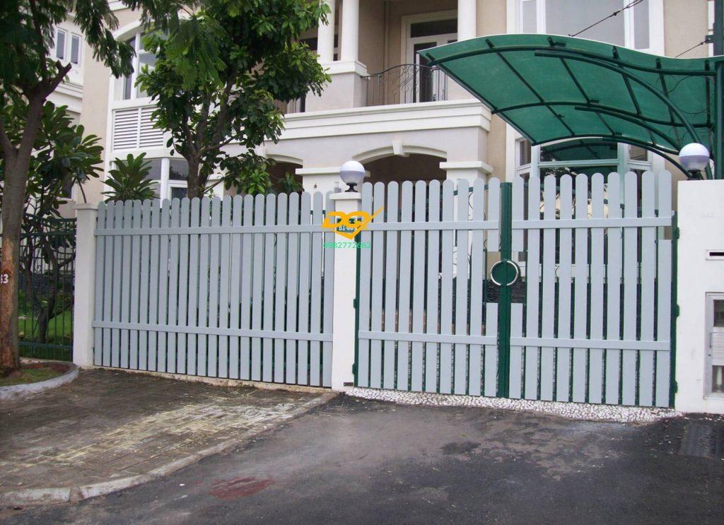 Hàng rào sắt hộp inox#4
