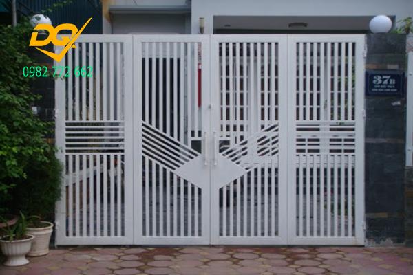 Cửa cổng sắt inox đẹp#9