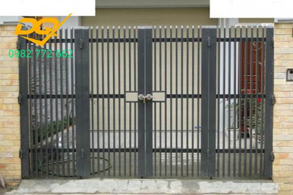 Cửa cổng sắt inox đẹp#11