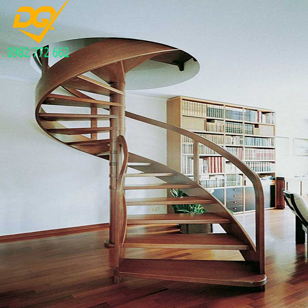 Mẫu cầu thang xoắn ốc gỗ - 5
