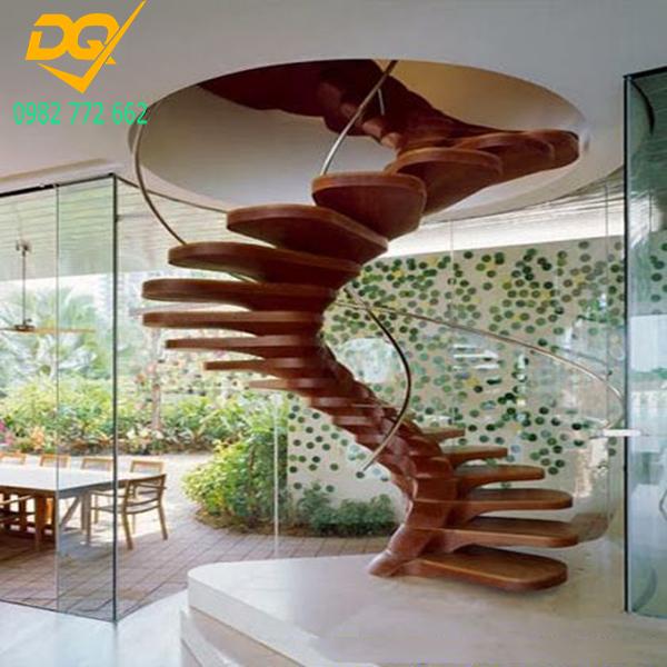Mẫu cầu thang xoắn ốc gỗ - 8