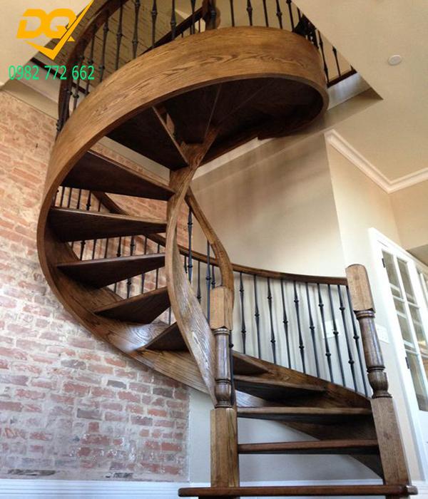 Mẫu cầu thang xoắn ốc gỗ - 9