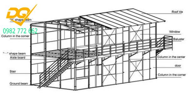 Bản vẽ thiết kế nhà thép tiền chế 2 tần -2