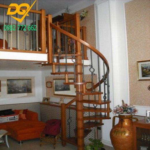 Mẫu cầu thang xoắn ốc gỗ - 12