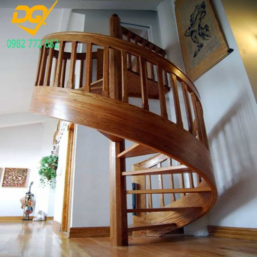 Mẫu cầu thang xoắn ốc gỗ - 14