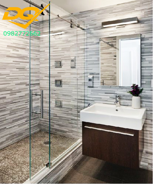 Mẫu phòng tắm kính cường lực đẹp